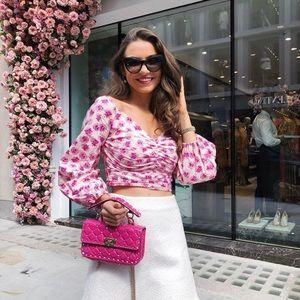 Zara Tops - Zara pink floral top